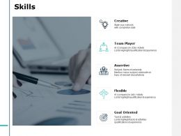 Skills Team Player J147 Ppt Powerpoint Presentation File Visuals