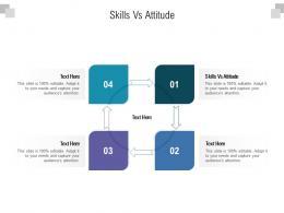 Skills Vs Attitude Ppt Powerpoint Presentation Outline Skills Cpb