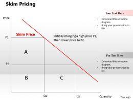 Skim Pricing Powerpoint Presentation Slide Template