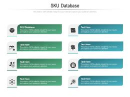 SKU Database Ppt Powerpoint Presentation Show Designs Download Cpb