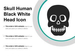 Skull Human Black White Head Icon