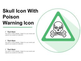 Skull Icon With Poison Warning Icon