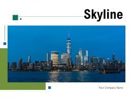 Skyline Suspension Commuters Buildings Bridge