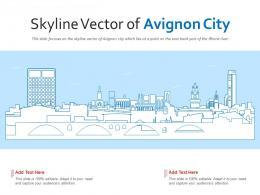 Skyline Vector Of Avignon City Powerpoint Presentation PPT Template