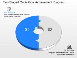 Sl Two Staged Circle Goal Achievement Diagram Powerpoint Template
