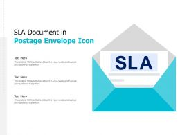 SLA Document In Postage Envelope Icon
