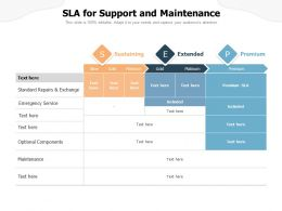 SLA For Support And Maintenance