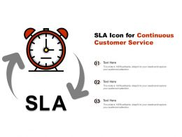 SLA Icon For Continuous Customer Service