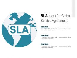 SLA Icon For Global Service Agreement