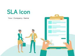 SLA Icon Postage Envelope Customer Service Continuous Agreement Provider