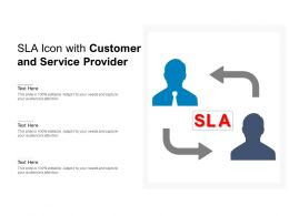 SLA Icon With Customer And Service Provider