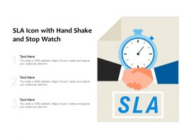 SLA Icon With Hand Shake And Stop Watch