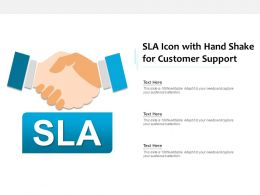 SLA Icon With Hand Shake For Customer Support