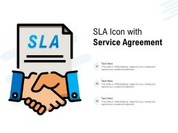 SLA Icon With Service Agreement