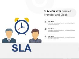 SLA Icon With Service Provider And Clock