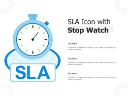 SLA Icon With Stop Watch