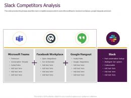 Slack Pitch Deck Competitors Analysis Ppt Powerpoint Presentation Outline Demonstration