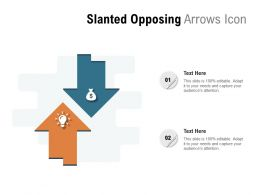 Slanted Opposing Arrows Icon