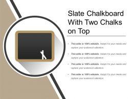 Slate Chalkboard With Two Chalks On Top