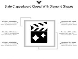 Slate Clapperboard Closed With Diamond Shapes