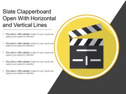 Slate Clapperboard Open With Horizontal And Vertical Lines