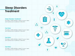 Sleep Disorders Treatment Ppt Powerpoint Presentation Pictures Graphics Template
