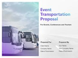 Event Transportation Proposal Powerpoint Presentation Slides