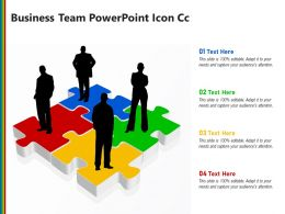 Business Team PowerPoint Icon Cc