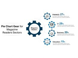 Pie Chart Gear For Magazine Readers Sectors