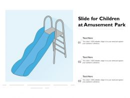 Slide For Children At Amusement Park