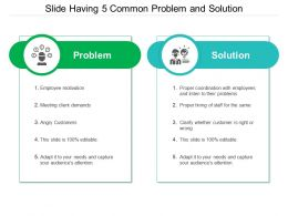 Slide Having 5 Common Problem And Solution