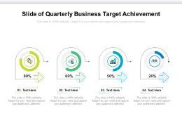 Slide Of Quarterly Business Target Achievement