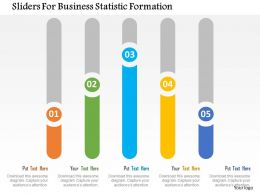 Sliders For Business Statistic Formation Flat Powerpoint Design