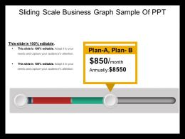 Sliding Scale Business Graph Sample Of Ppt