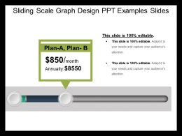 Sliding Scale Graph Design Ppt Examples Slides