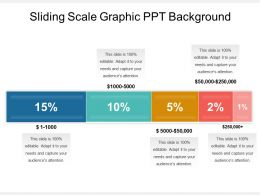 Sliding Scale Graphic Ppt Background