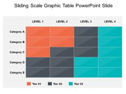 Sliding Scale Graphic Table Powerpoint Slide