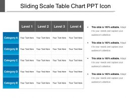 Sliding Scale Table Chart Ppt Icon