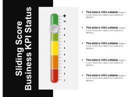 Sliding Score Business Kpi Status Ppt Images Gallery