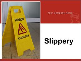 Slippery Warning Briefcase Accident Board Staircase Progress Surface