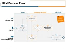 SLM Process Flow Business Process Ppt Powerpoint Presentation Portfolio Ideas