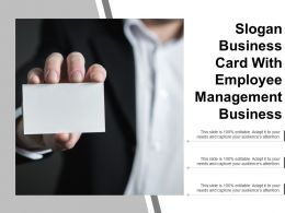Slogan Business Card With Employee Management Business