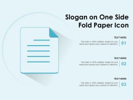 Slogan On One Side Fold Paper Icon