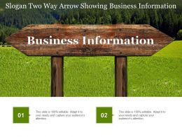 Slogan Two Way Arrow Showing Business Information