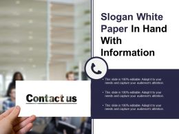 Slogan White Paper In Hand With Information