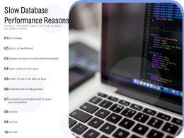 Slow Database Performance Reasons