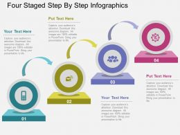Sm Four Staged Step By Step Infographics Flat Powerpoint Design