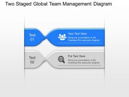 Sm Two Staged Global Team Management Diagram Powerpoint Template