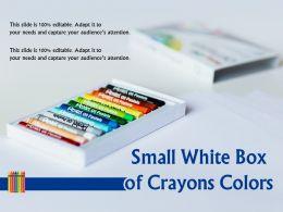 Small Brown Box Of Crayons Colors