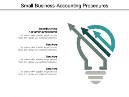 Small Business Accounting Procedures Ppt Powerpoint Presentation Model Graphic Tips Cpb